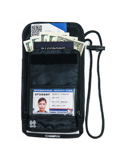 Travel Neck Wallet with RFID Blocking 2 - in - 1 Passport Holder & Traveling Wallet for Men & Women