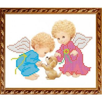 Ангелочки с собачкой арт. VKA5007