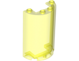 Cylinder Half 2 x 4 x 5 with 1 x 2 Cutout, Trans-Neon Green (85941 / 6082545 / 6246878)
