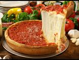 Чикаго- стайл пицца с сыром и томатами (нажмите на пиццу и выберите вес)