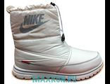 Дутики Nike с мехом черные