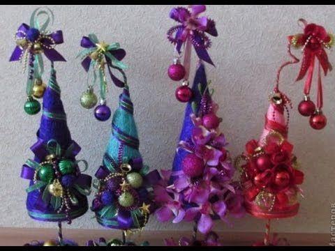 Новогодний топиарий елочки своими руками