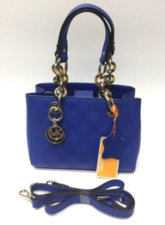 Сумка Michael Kors Cynthia Quilted Small Blue / Синяя