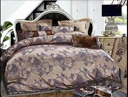Артикул H031. Элитное постельное белье на 100% хлопковой основе с использованием шелковой нити,декорировано вышивкой