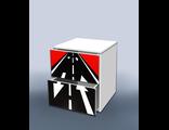 Тумба с ящиками Гонка красный
