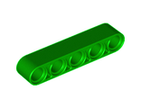 Technic, Liftarm 1 x 5 Thick, Green (32316 / 6036569)