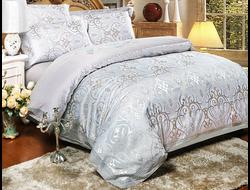 Артикул H019. Элитное постельное белье на 100% хлопковой основе с использованием шелковой нити,декорировано вышивкой