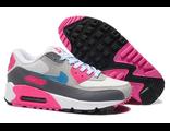 Кроссовки Nike Air Max 90 серо-розовые
