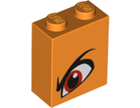 Brick 1 x 2 x 2 with Inside Stud Holder with Angry Red Left Eye and Eyebrow Pattern Queen Watevra Wa'Nabi, Orange (3245cpb096 / 6263141)