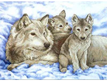 Волчица и волчата (Mother Wolf and Pups) 13130 vkn