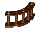 Fence 4 x 4 x 2 Quarter Round Spindled with 3 Studs, Reddish Brown (21229 / 6227891)