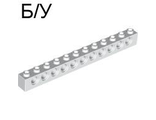 ! Б/У - Technic, Brick 1 x 12 with Holes, White (3895 / 389501) - Б/У