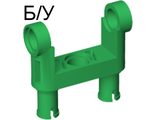 ! Б/У - Technic, Pin Connector Toggle Joint Smooth Double with 2 Pins, Green (48496 / 4225729) - Б/У