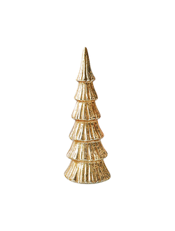 Елка с подсветкой LED DECORATIVE CHRISTMAS TREE FASTI GOLD D10XH27 GLASSарт.31698