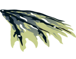 Cloth Wing Dragon Right with Black and Dark Blue Streaks Pattern, Yellowish Green (21747pb01 / 6118865)