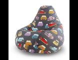 кресло-мешок детское Тачки-рэтро 80х110