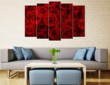Картина - Пышные алые розы