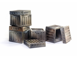 Steel crates (painted)