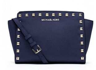 Сумка Michael Kors Selma Mini Messenger Studded Blue / Синяя