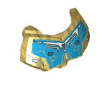 Large Figure Chest Armor Small with Blue and White Pattern, Pearl Gold (98603pb015 / 6102654)