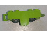 Vehicle, Base 4 x 5 Roller Coaster Car with 2 Dark Bluish Gray Wheel Roller Coaster  26021 / 24869 , Lime (26021c01)