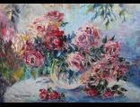 "Круглова Светлана. ""Дождь в саду"",  холст / масло,  50 х 70 см.,  2016 г."