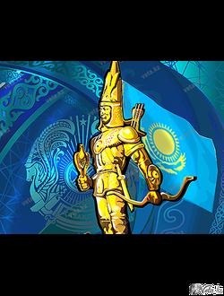 векторная иллюстрация  - «Алтын Адам»