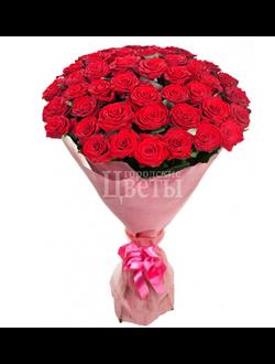 букет из 51 красной розы Red Paris