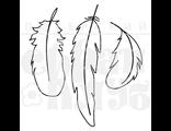 штамп с тремя контурными перьями