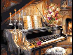 Пианино и цветы