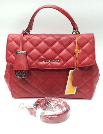Сумка Michael Kors Ava Quilted Red / Красная
