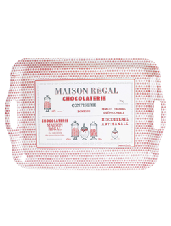 Поднос MAIS-REGAL RED 48.5X33CM Меламин Comptoir de Famille