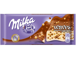 Шоколад Milka Waves Cookie 81 грамм (Европа)