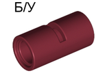 ! Б/У - Technic, Pin Connector Round 2L with Slot Pin Joiner Round, Dark Red (62462 / 4529659 / 4539091 / 6173131) - Б/У