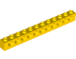 Technic, Brick 1 x 12 with Holes, Yellow (3895 / 389524 / 6262393)