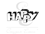 """ФП штамп """"Happy"""""""