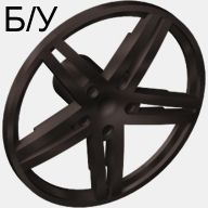 ! Б/У - Wheel Cover 5 Spoke without Center Stud - 35mm D. - for Wheels 54087, 56145 or 44292, Black (54086) - Б/У