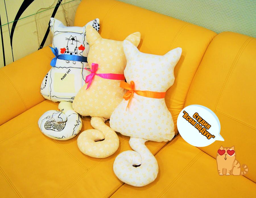 Фото подушки коты своими руками с выкройками