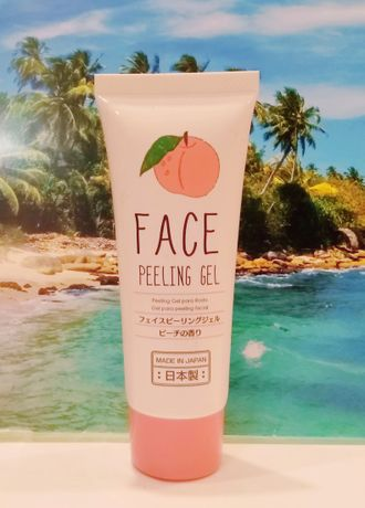 Face Peeling Gel Пиллинг-гель для лица с коллагеном и ароматом персика Япония