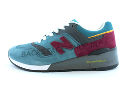 Мужские кроссовки New Balance 997 Blue/Vinous Размеры (47-50)