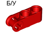 ! Б/У - Technic, Axle and Pin Connector Perpendicular 3L with 2 Pin Holes, Red (42003 / 4175442) - Б/У