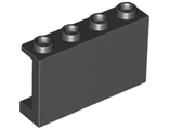 Panel 1 x 4 x 2 with Side Supports - Hollow Studs, Black (14718 / 6115117)