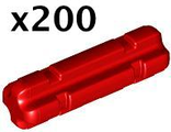 Technic, Axle 2 Notched,x200, Red (32062 / 4142865)