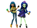 "Сет из 2-ух кукол Monster High Nefera de Nile and Amanita Nightshade ""Scream and Sugar""/ Нефера де Нил и Аманита Найтшейд ""Страх и Сладости"""