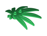Plant Leaves 6 x 5 Swordleaf with Clip (thick open O clip), Green (10884 / 6022936 / 6097473)