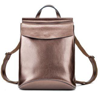 22ad20da0a3b Женский кожаный рюкзак-трансформер бронзовый - купить за 2 590 руб. Жми!