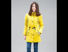 Парка для девочек L1505 Jan Steen ( цвет горчица и бордо)