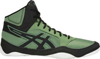 борцовки Asics Snapdown 2 cedar green/black J703Y wrestling shoes фото зеленые сбоку