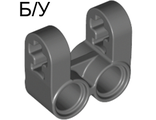 ! Б/У - Technic, Axle and Pin Connector Perpendicular Double Split, Dark Bluish Gray (41678 / 4234599) - Б/У