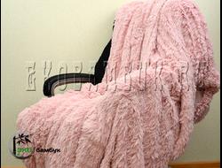 Бамбуковый плед экстра-класса Светло-брусничный 160х210